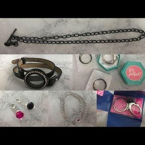 Origami Owl large lot of accessories